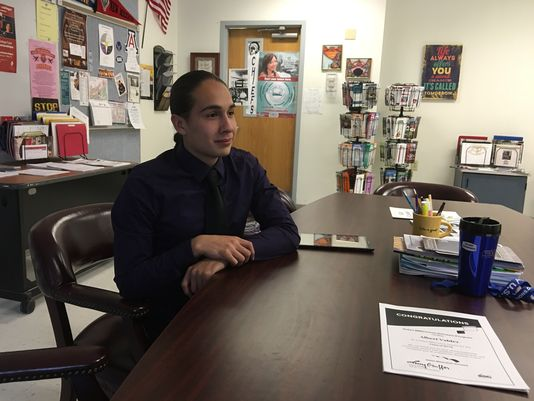 Mescalero Apache High School Senior, Albert Valdez, is a recipient of the Bill Gates Scholarship. Photo by Dave Tomlin-Ruidoso News