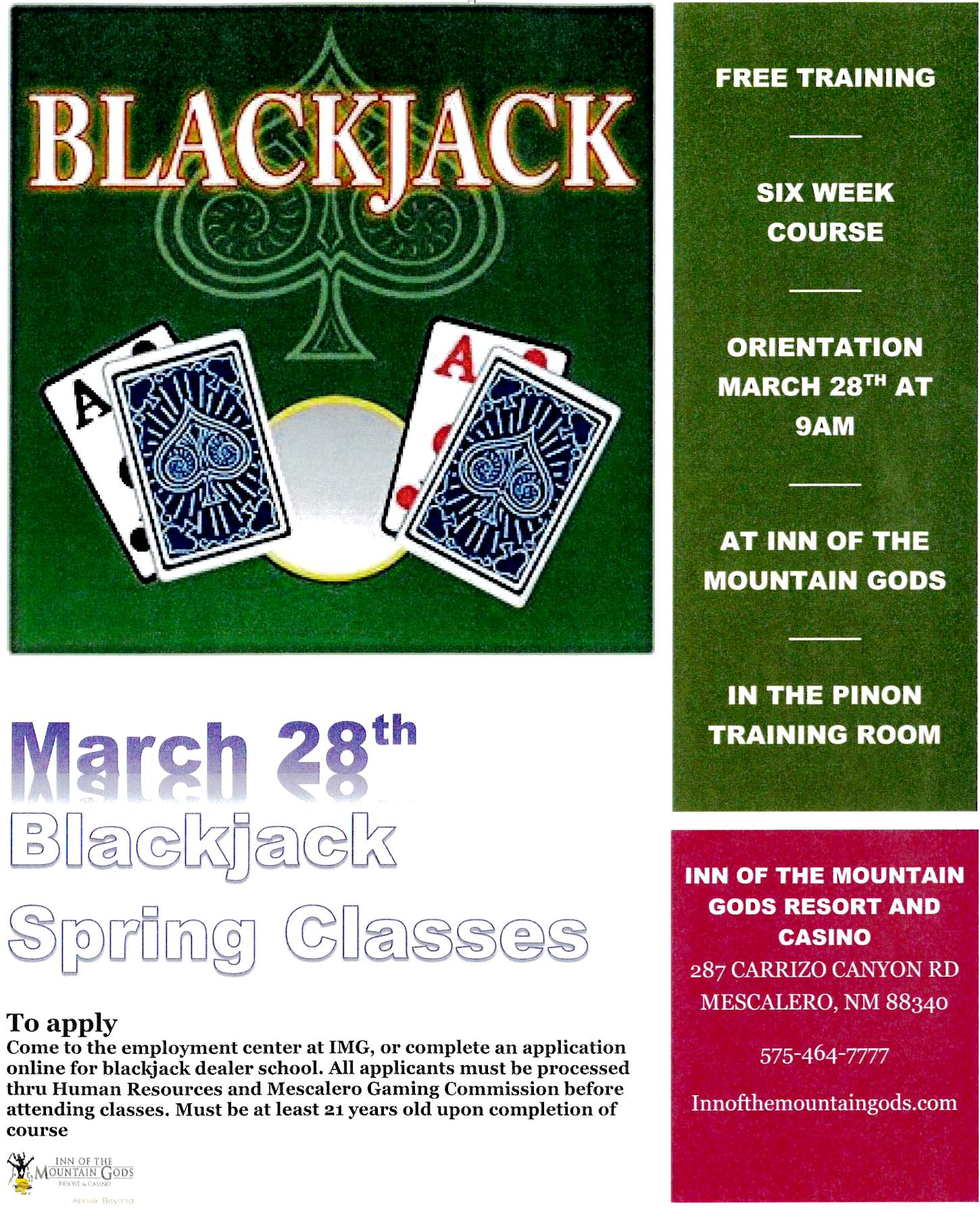 Blackjack lessons